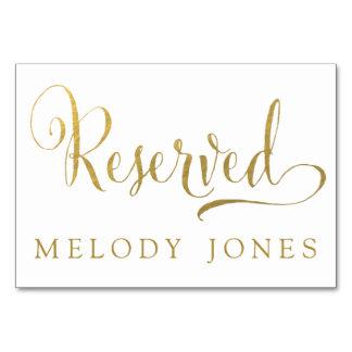 Wedding reserviertes Platzkarte-Gold