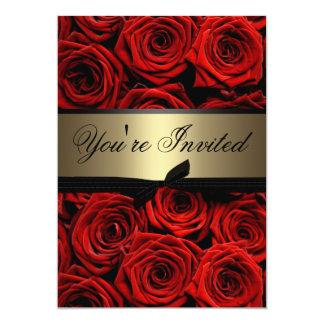 Wedding Rote Rosen 12,7 X 17,8 Cm Einladungskarte