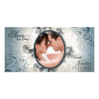 Wedding Save the Date Mitteilungs-Vintages Laub Fotokarte