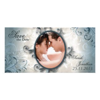 Wedding Save the Date Mitteilungs-Vintages Laub Karte
