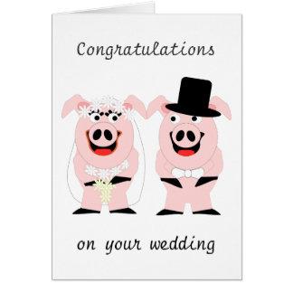 Wedding Schweine Grußkarte