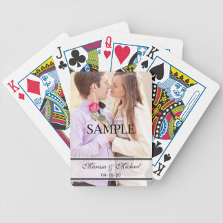 Wedding Spielkarten mit Foto