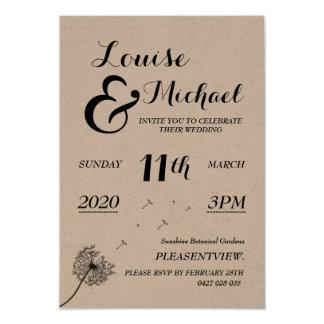 Wedding/Verlobungs-Einladung 8,9 X 12,7 Cm Einladungskarte