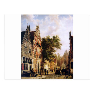 Weeshuis in Enkhuizen durch Cornelis-Springer Postkarte