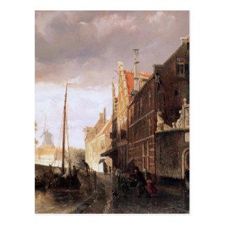 Weeshuis in Kampen durch Cornelis-Springer Postkarte