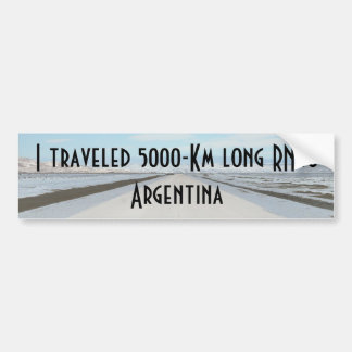 Weg 40 (Ruta Cuarenta) Argentinien, Patagonia Autoaufkleber