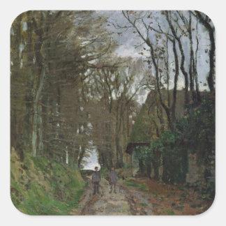 Weg Claude Monets | in Normandie Quadratischer Aufkleber