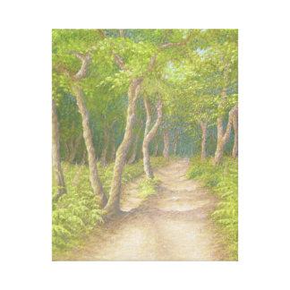 Weg durch die Bäume, Leith Hügel-Leinwand-Druck Leinwanddruck