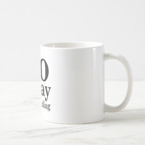 Weg GEHE ich lese Kaffee Tasse
