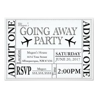 Weg gehen Party-Karten-Einladung 8,9 X 12,7 Cm Einladungskarte