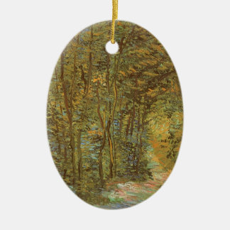 Weg im Holz durch Vincent van Gogh, Vintage Kunst Ovales Keramik Ornament