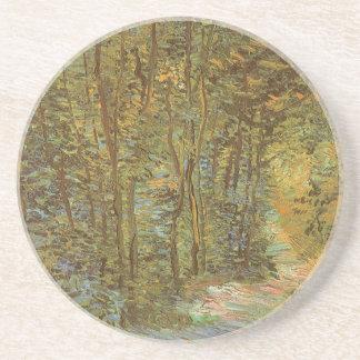Weg im Holz durch Vincent van Gogh, Vintage Kunst Untersetzer