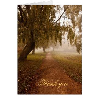 Weg im Nebel danken Ihnen Karte