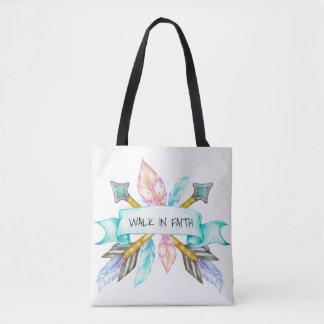 Weg in der Glaube Boho Pfeil-Taschen-Tasche