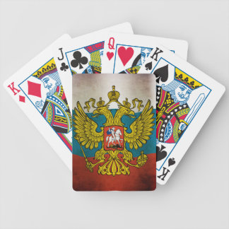 Wehende Flagge von Russland Pokerkarten
