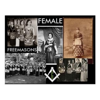 Weibliche gemischte Medien der Freimaurer-| durch Postkarten