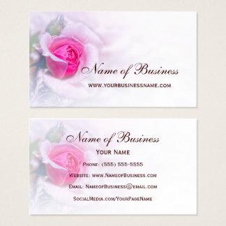 Weibliche rosa Rosen-Blumen-elegantes Blumen Visitenkarte