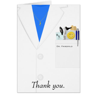 Weiblicher Doktor Thank You Card Karte