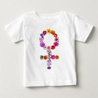 Weibliches Symbol gemacht von den Fotografien der Baby T-shirt