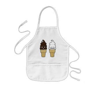 Weiche Aufschlags-Eistüteoblate-Schokoladenvanille Kinderschürze