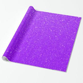 Weiche lila Glitter-Drucke Geschenkpapier