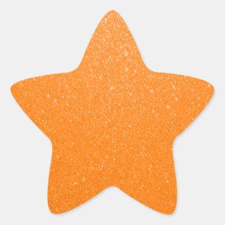Weicher orange Glitter Stern-Aufkleber
