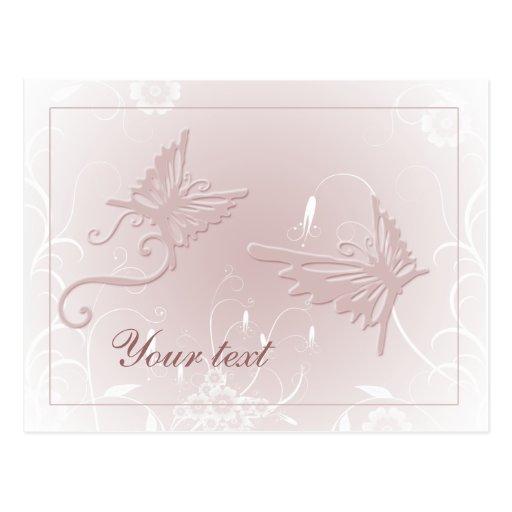 Weicher Pastellschmetterlingsentwurf Postkarten