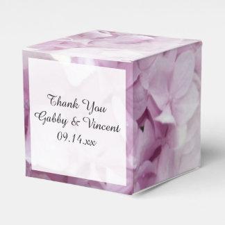 Weicher rosa Hydrangea-Blumenhochzeit Geschenkschachtel