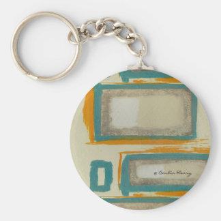 Weiches und mutiges Rothko inspiriertes abstraktes Schlüsselanhänger