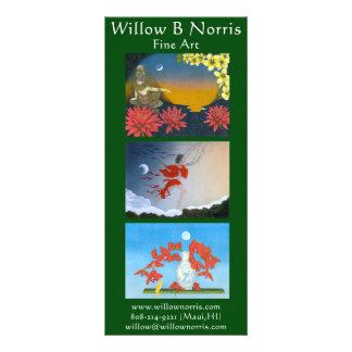 Weide-Gestell-Karten Vollfarbige Werbekarte