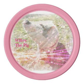Weide-rosa Poker-Chips Pokerchips