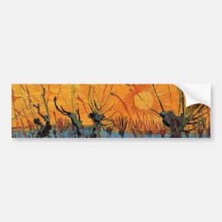 Weiden am Sonnenuntergang durch Vincent van Gogh Autoaufkleber