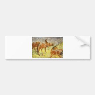 Weiden lassen der Pferde durch Franz Marc Autoaufkleber