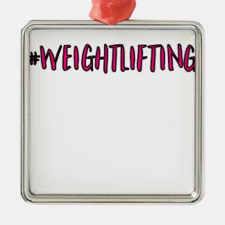 Weightlifting-Entwurf Silbernes Ornament