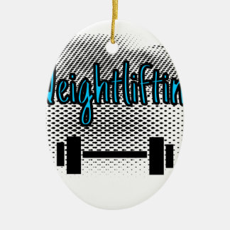Weightlifting Keramik Ornament