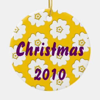 Weihnachten 2010 rundes keramik ornament