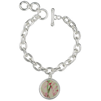 Weihnachten-beflecktes Glas Armband