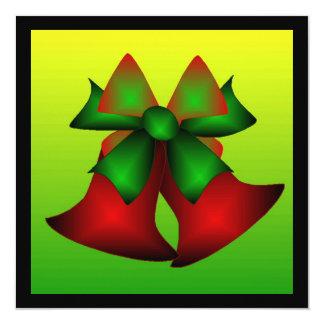 Weihnachten Bell Quadratische 13,3 Cm Einladungskarte