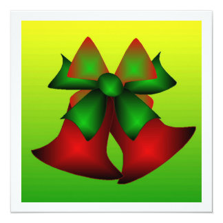 Weihnachten Bell III Quadratische 13,3 Cm Einladungskarte