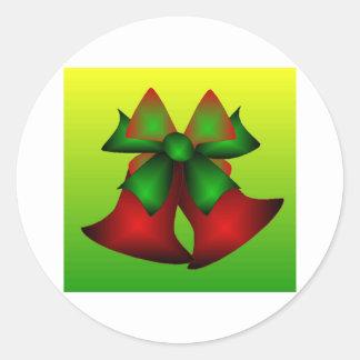 Weihnachten Bell III Runder Aufkleber