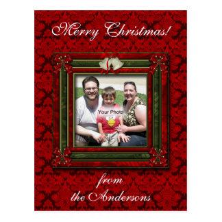 Weihnachten Bell und Bogen-Foto-Postkarte Postkarte