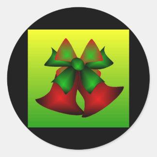 Weihnachten Bell VI Runder Aufkleber