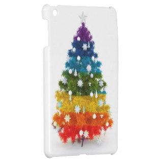 Weihnachten, bunt, Regenbogenfarben, Baum iPad Mini Hülle