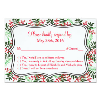 Weihnachten, Feiertags-Hochzeit UAWG Wartekarte 8,9 X 12,7 Cm Einladungskarte