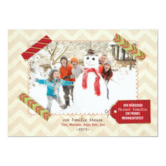 Weihnachten Foto-Karte 12,7 X 17,8 Cm Einladungskarte