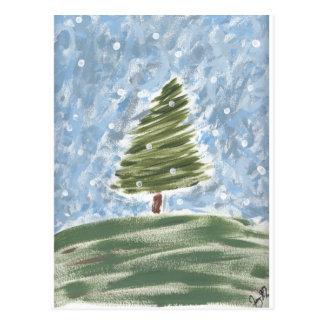 Weihnachten-Gezeiten-Postkarte Postkarte