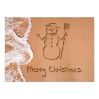 Weihnachten im Sommer - Weihnachtseinladung 11,4 X 15,9 Cm Einladungskarte