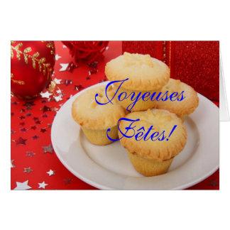 Weihnachten Joyeuses Fêtes und bonne année III Karten