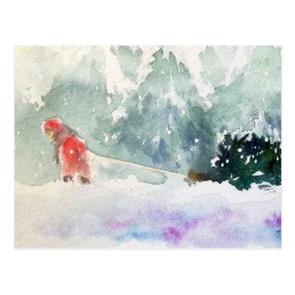 Weihnachten kommt postkarte
