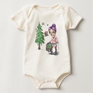 Weihnachten mit Fran Ticken u. Dave der Schläger Baby Strampler